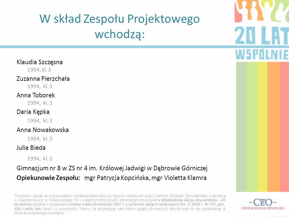 Klaudia Szczęsna 1994, kl.3 Zuzanna Pierzchała 1994, kl.