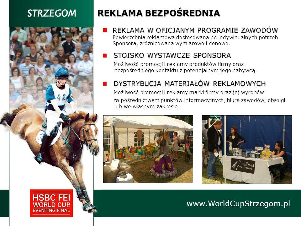 REKLAMA BEZPOŚREDNIA www.WorldCupStrzegom.pl REKLAMA W OFICJANYM PROGRAMIE ZAWODÓW Powierzchnia reklamowa dostosowana do indywidualnych potrzeb Sponso