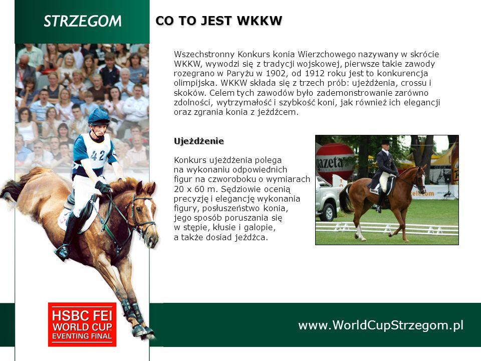www.WorldCupStrzegom.pl CO TO JEST WKKW Wszechstronny Konkurs konia Wierzchowego nazywany w skrócie WKKW, wywodzi się z tradycji wojskowej, pierwsze t