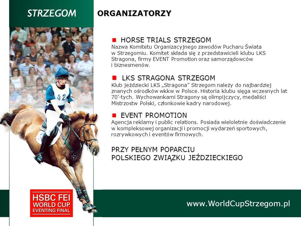 HORSE TRIALS STRZEGOM HORSE TRIALS STRZEGOM Nazwa Komitetu Organizacyjnego zawodów Pucharu Świata w Strzegomiu. Komitet składa się z przedstawicieli k