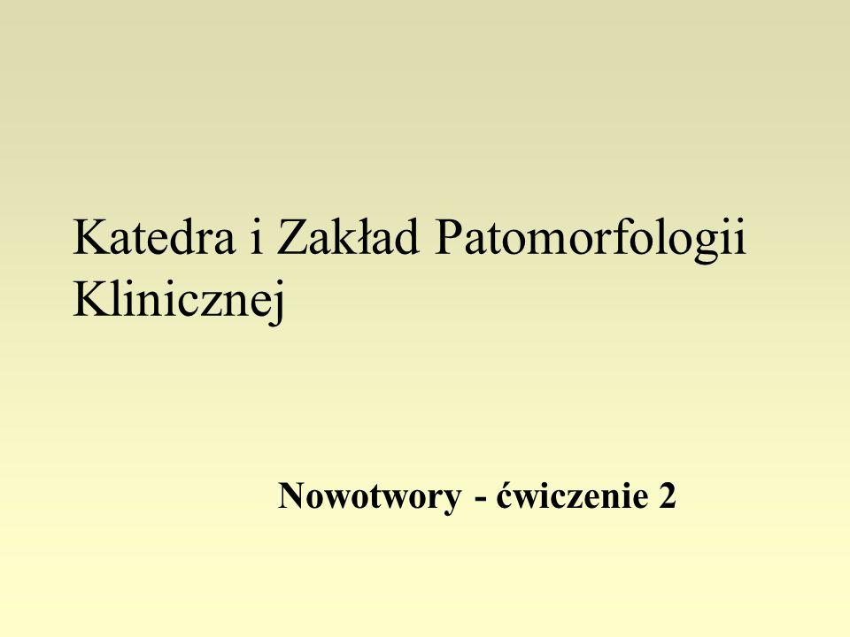Zagadnienia do ćwiczenia 2 1.Podstawowe pojęcia z patologii i kliniki nowotworów; 2.