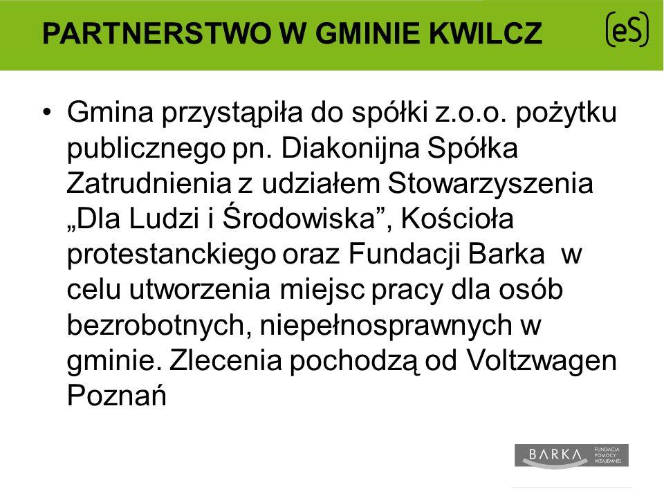 PARTNERSTWO W GMINIE KWILCZ Gmina przystąpiła do spółki z.o.o.