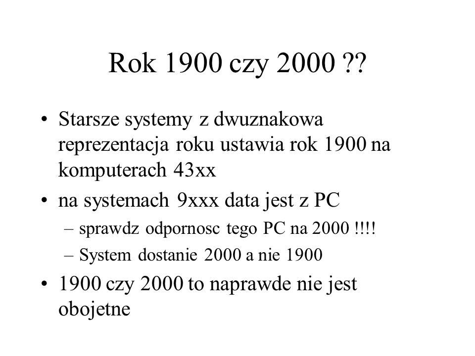 Srodowisko do testow LPAR –tak na 9672 może mieć separowana date nie testujmy roku 1900 jeśli mamy w planie zmiane na komputer 9xxx, PC/390, Integratd Server lub FLEX - nasze testy nie będą nic warte