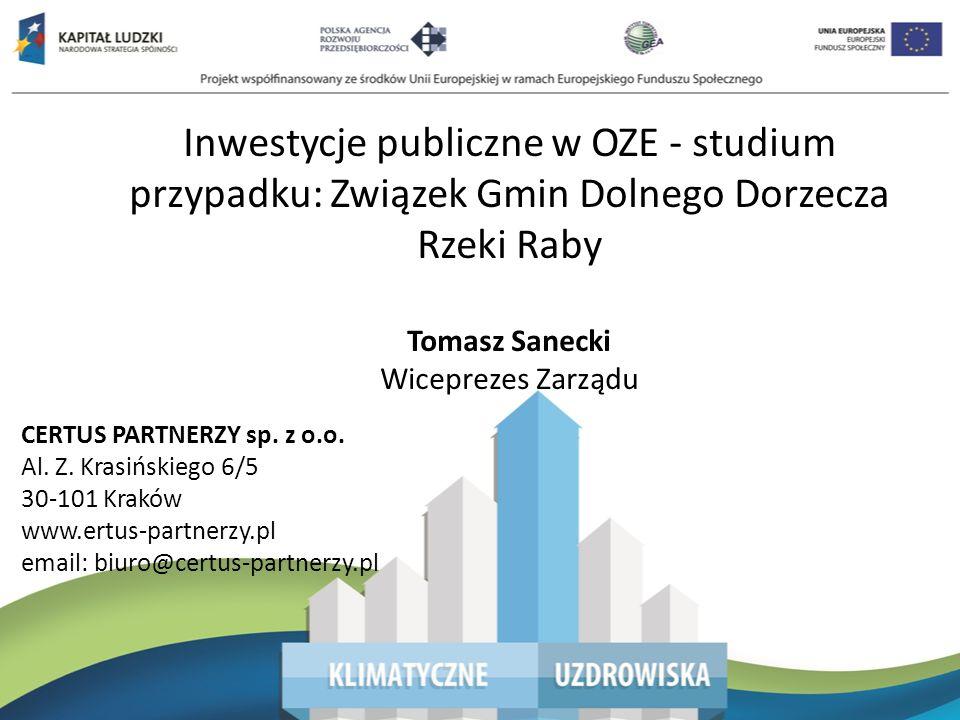 Poprawa jakości powietrza na terenie zlewni rzeki Raby Projekt Źródła Cele Budżet Wskaźniki