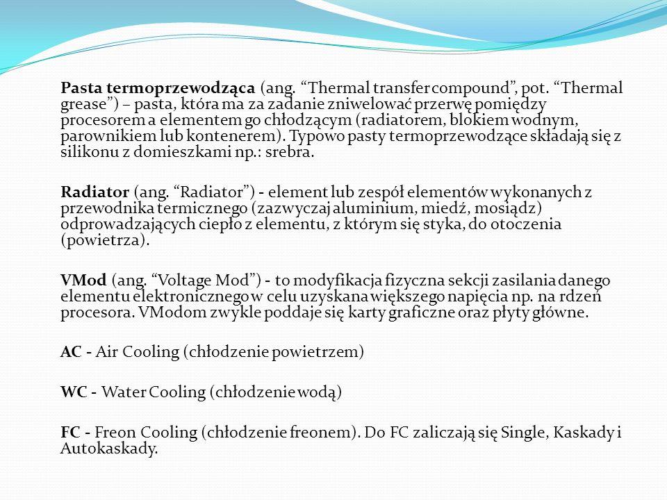 Pasta termoprzewodząca (ang. Thermal transfer compound, pot. Thermal grease) – pasta, która ma za zadanie zniwelować przerwę pomiędzy procesorem a ele