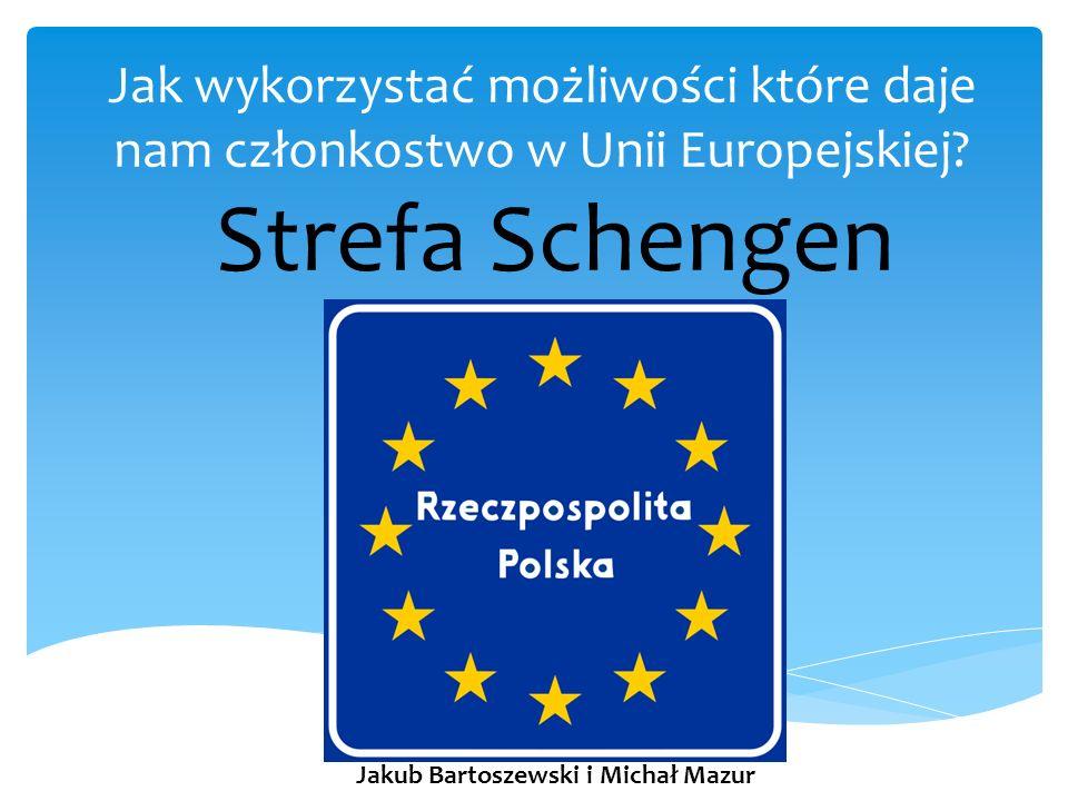 Układ w Schengen – 1985 rok – Luksemburg Porozumienie między państwami Unii Europejskiej na mocy którego obywatele wszelkich narodowości i o dowolnym obywatelstwie mogą poruszać się bez ograniczeń po terenie objętym porozumieniem, czyli tzw.