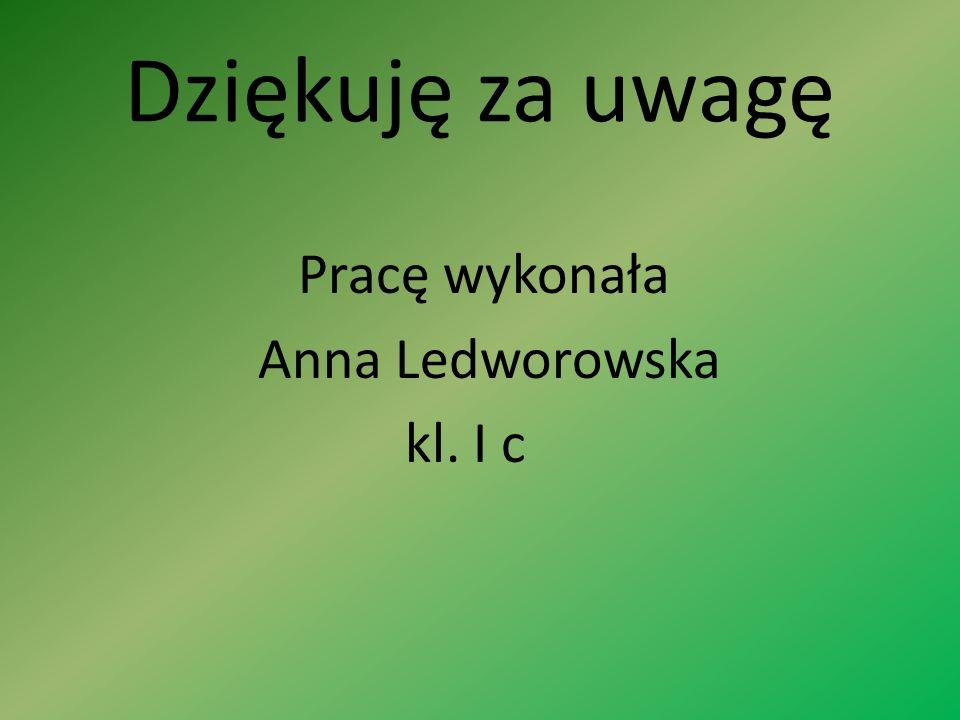 Dziękuję za uwagę Pracę wykonała Anna Ledworowska kl. I c