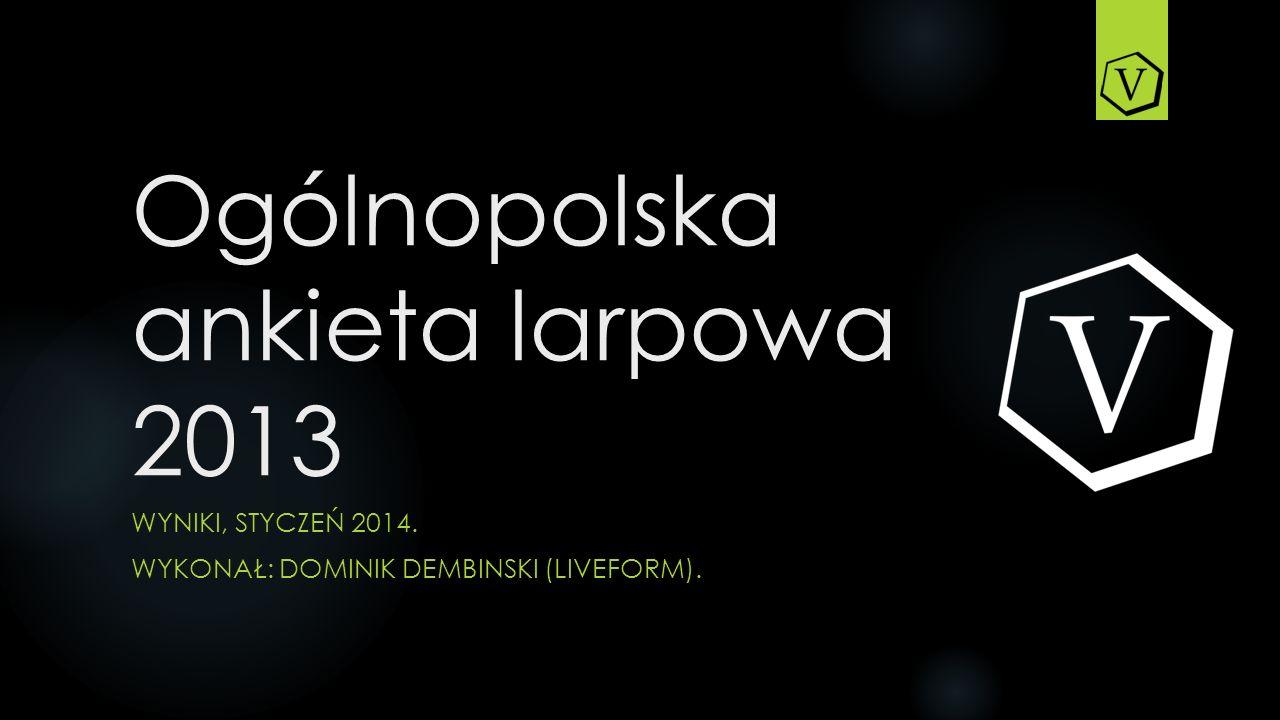 Ogólnopolska ankieta larpowa 2013 WYNIKI, STYCZEŃ 2014. WYKONAŁ: DOMINIK DEMBINSKI (LIVEFORM).