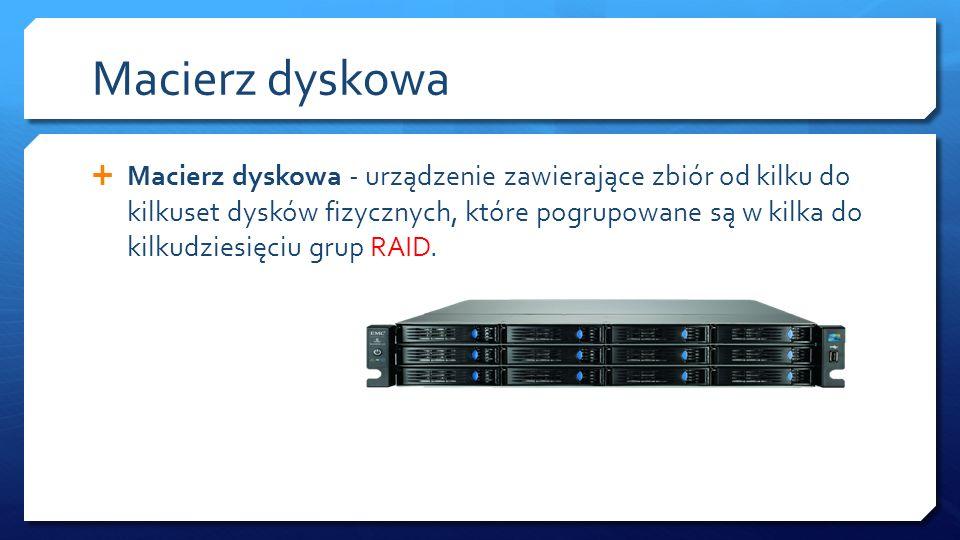 RAID RAID jest to określenie mechanizmu odporności na uszkodzenia.