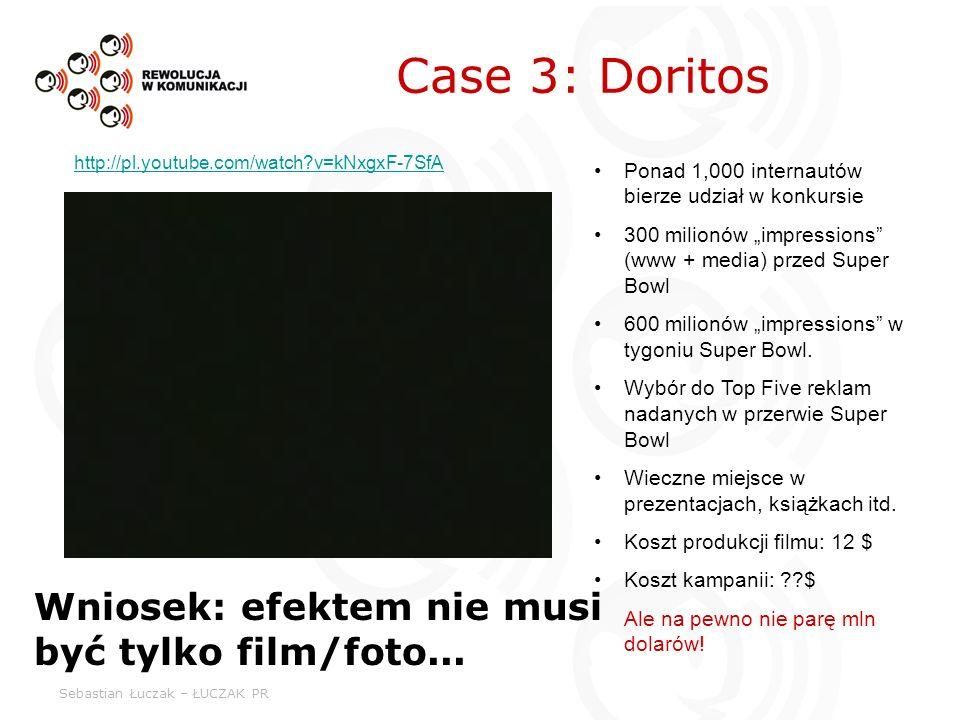 Sebastian Łuczak – ŁUCZAK PR Case 3: Doritos Wniosek: efektem nie musi być tylko film/foto... Ponad 1,000 internautów bierze udział w konkursie 300 mi