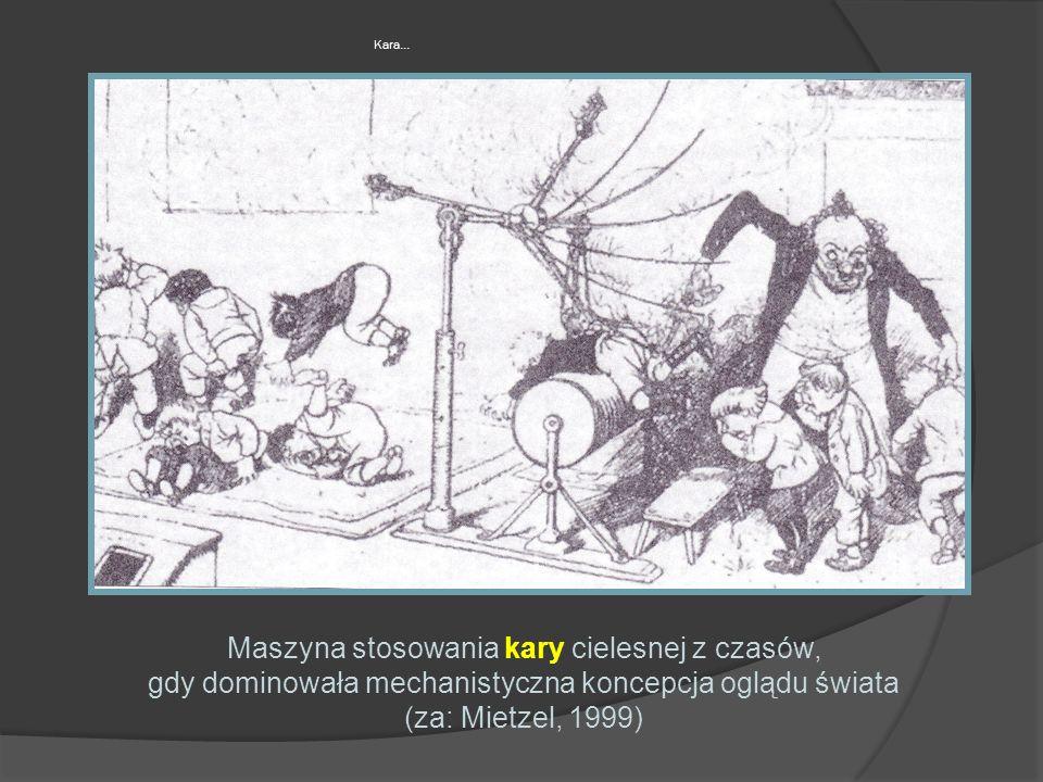 Kara… Maszyna stosowania kary cielesnej z czasów, gdy dominowała mechanistyczna koncepcja oglądu świata (za: Mietzel, 1999)