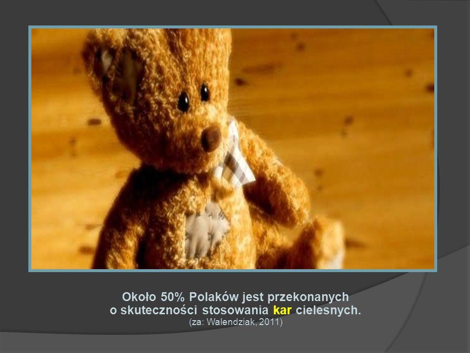 Około 50% Polaków jest przekonanych o skuteczności stosowania kar cielesnych. (za: Walendziak, 2011)