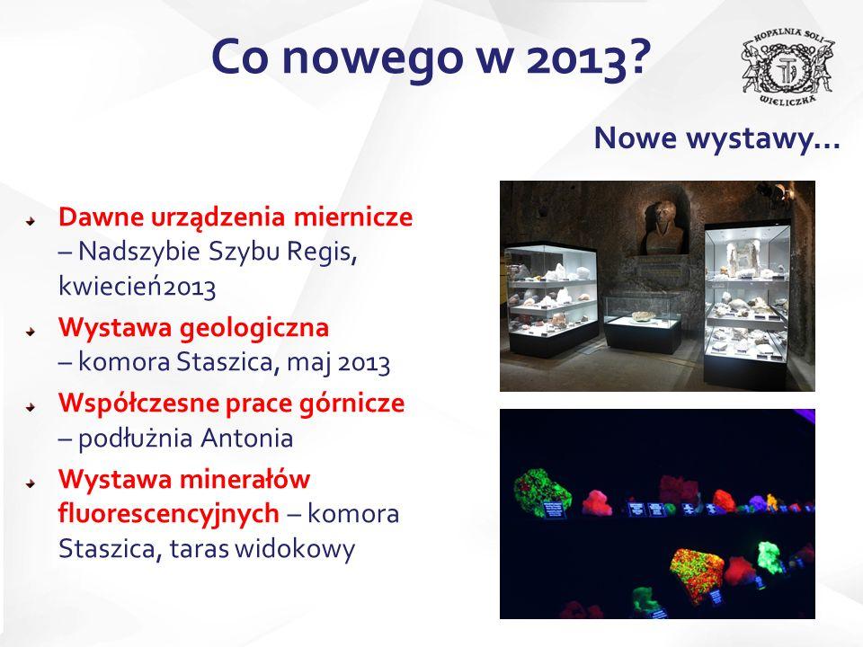 Dawne urządzenia miernicze – Nadszybie Szybu Regis, kwiecień2013 Wystawa geologiczna – komora Staszica, maj 2013 Współczesne prace górnicze – podłużni