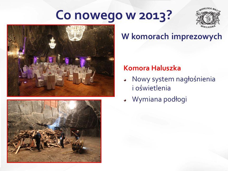 Komora Haluszka Nowy system nagłośnienia i oświetlenia Wymiana podłogi Co nowego w 2013.