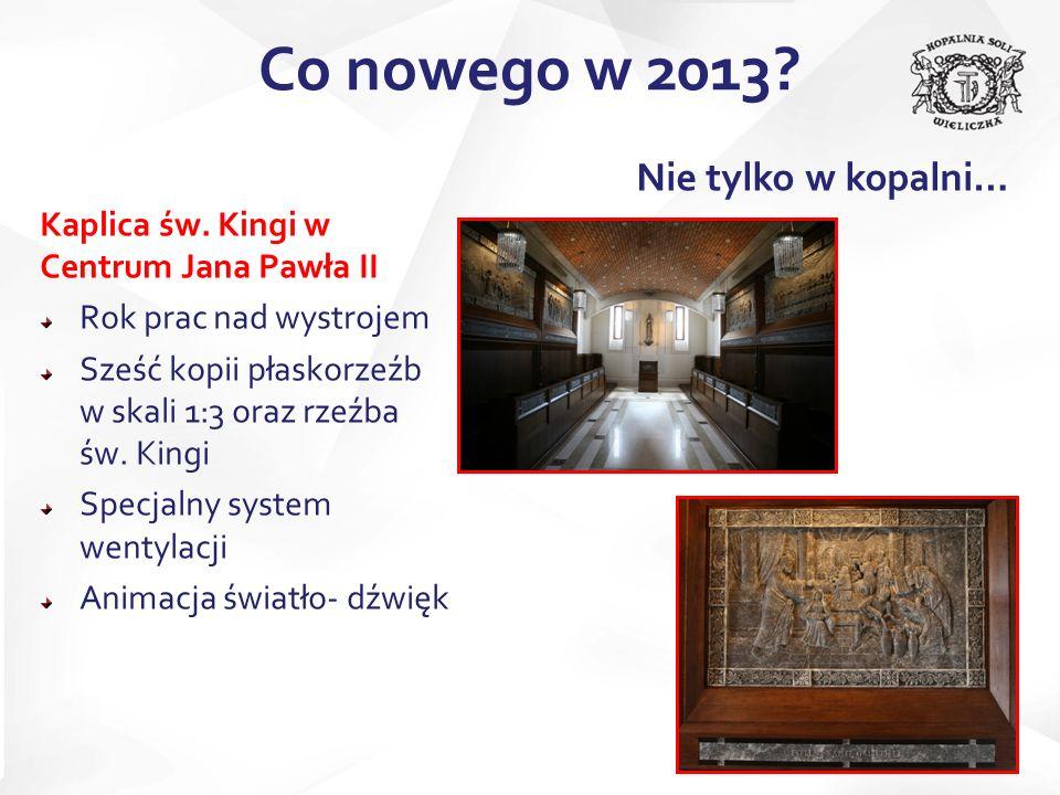 Kaplica św. Kingi w Centrum Jana Pawła II Rok prac nad wystrojem Sześć kopii płaskorzeźb w skali 1:3 oraz rzeźba św. Kingi Specjalny system wentylacji