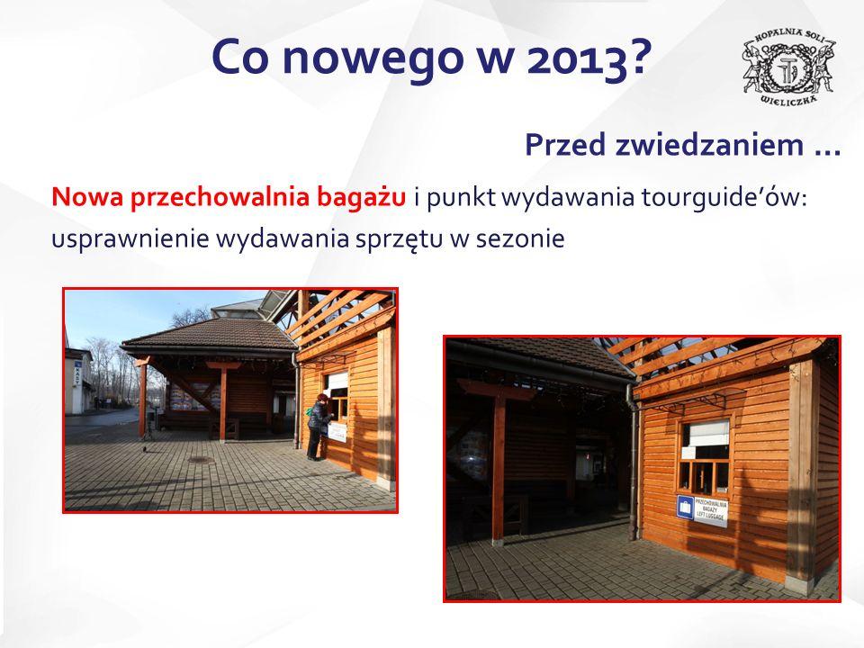 Nowa przechowalnia bagażu i punkt wydawania tourguideów: usprawnienie wydawania sprzętu w sezonie Co nowego w 2013? Przed zwiedzaniem …