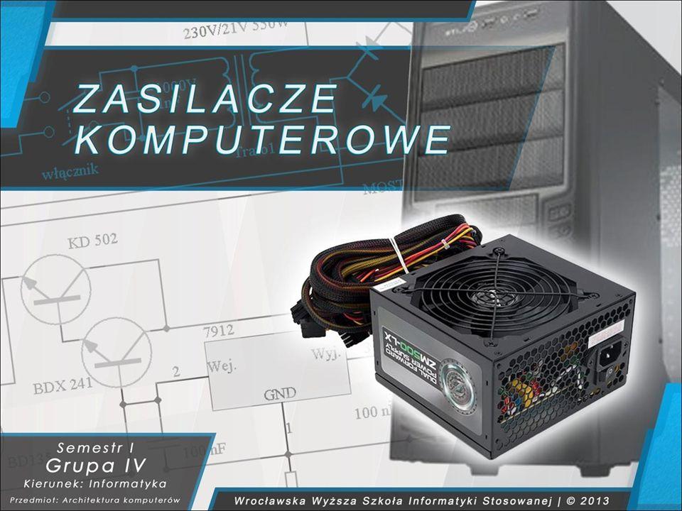 TYPY, RODZAJE I BUDOWA ZASILACZY KOMPUTEROWYCH 3 - 18 Z powodu sporej komplikacji układów elektronicznych od bardzo wielu czynników.