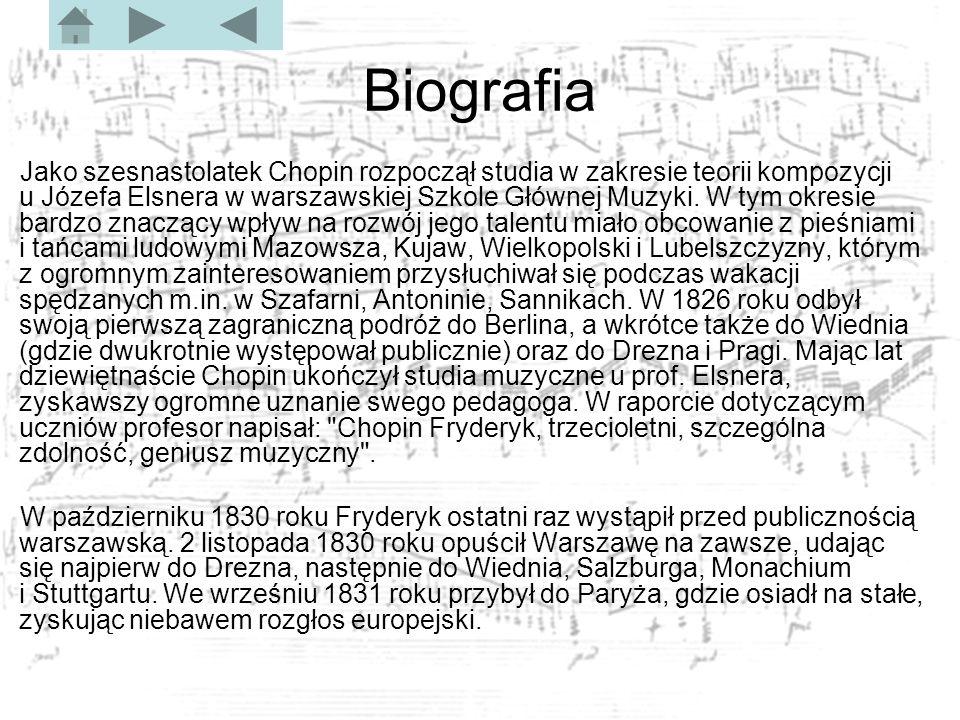 Tematyczny spis utworów Mazurki Są to miniatury (tzn.