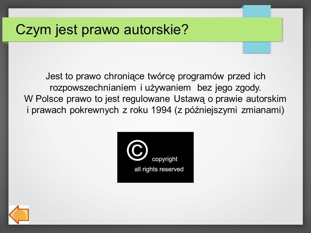 Czym jest prawo autorskie.