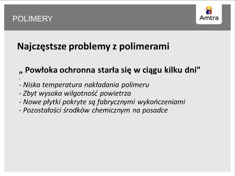 POLIMERY Najczęstsze problemy z polimerami Powłoka ochronna starła się w ciągu kilku dni.