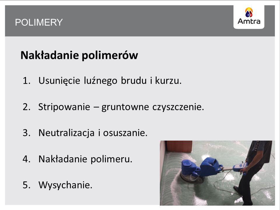 POLIMERY Nakładanie polimerów 1.Usunięcie luźnego brudu i kurzu.