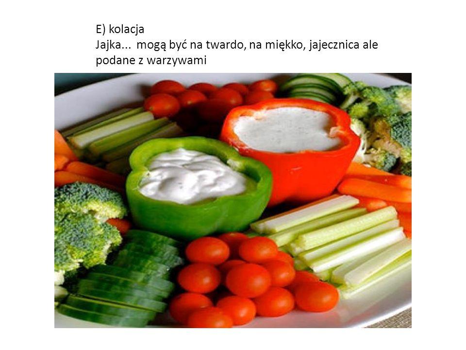 D) podwieczorek Sałatka brokułowa z serem feta i sosem czosnkowym