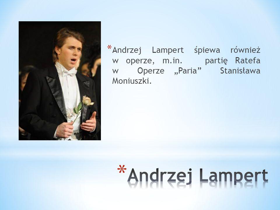 * Andrzej Lampert użyczył swojego głosu bohaterom filmów: - High School Musical - Mój brat niedźwiedź