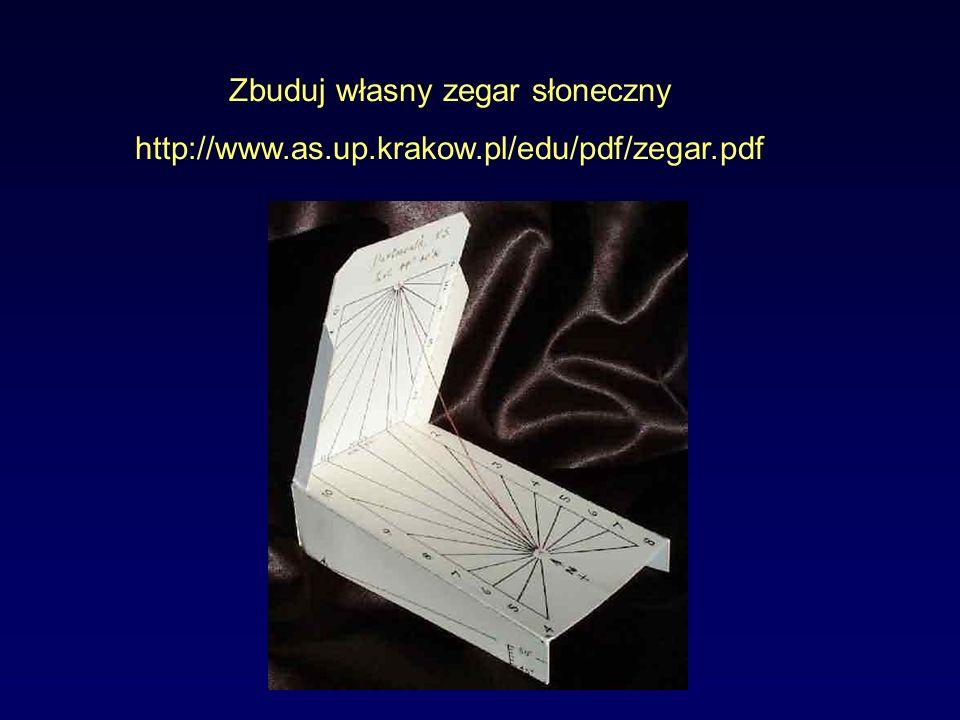 Zbuduj własny zegar słoneczny http://www.as.up.krakow.pl/edu/pdf/zegar.pdf