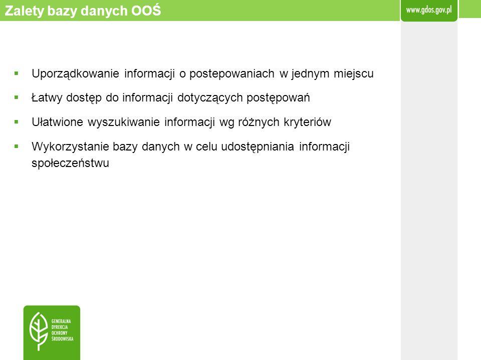 Uporządkowanie informacji o postepowaniach w jednym miejscu Łatwy dostęp do informacji dotyczących postępowań Ułatwione wyszukiwanie informacji wg róż