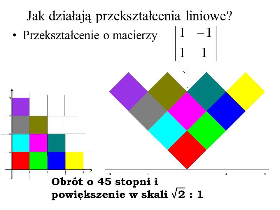 Jak działają przekształcenia liniowe? Przekształcenie o macierzy