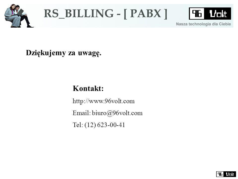 Dziękujemy za uwagę. Kontakt: http://www.96volt.com Email: biuro@96volt.com Tel: (12) 623-00-41