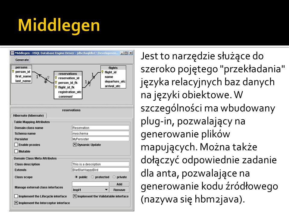 Jest to narzędzie służące do szeroko pojętego przekładania języka relacyjnych baz danych na języki obiektowe.