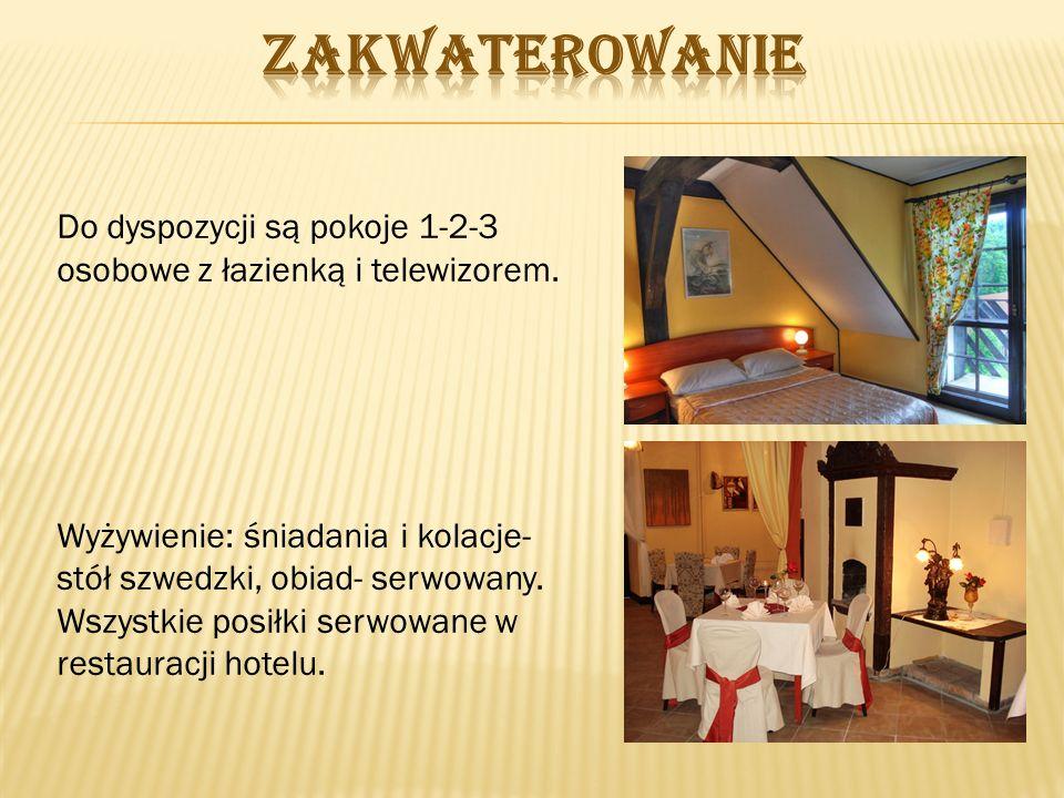 Do dyspozycji są pokoje 1-2-3 osobowe z łazienką i telewizorem.