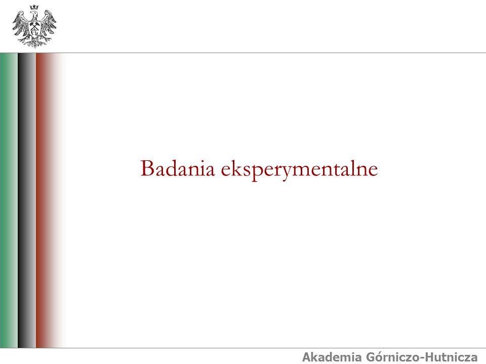 Akademia Górniczo-Hutnicza Badania eksperymentalne