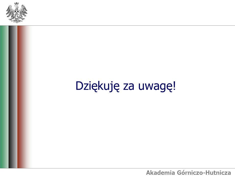 Akademia Górniczo-Hutnicza Dziękuję za uwagę!