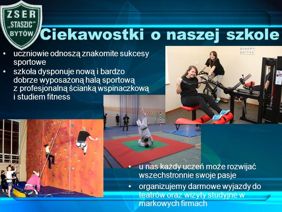 uczniowie odnoszą znakomite sukcesy sportowe Ciekawostki o naszej szkole szkoła dysponuje nową i bardzo dobrze wyposażoną halą sportową z profesjonaln