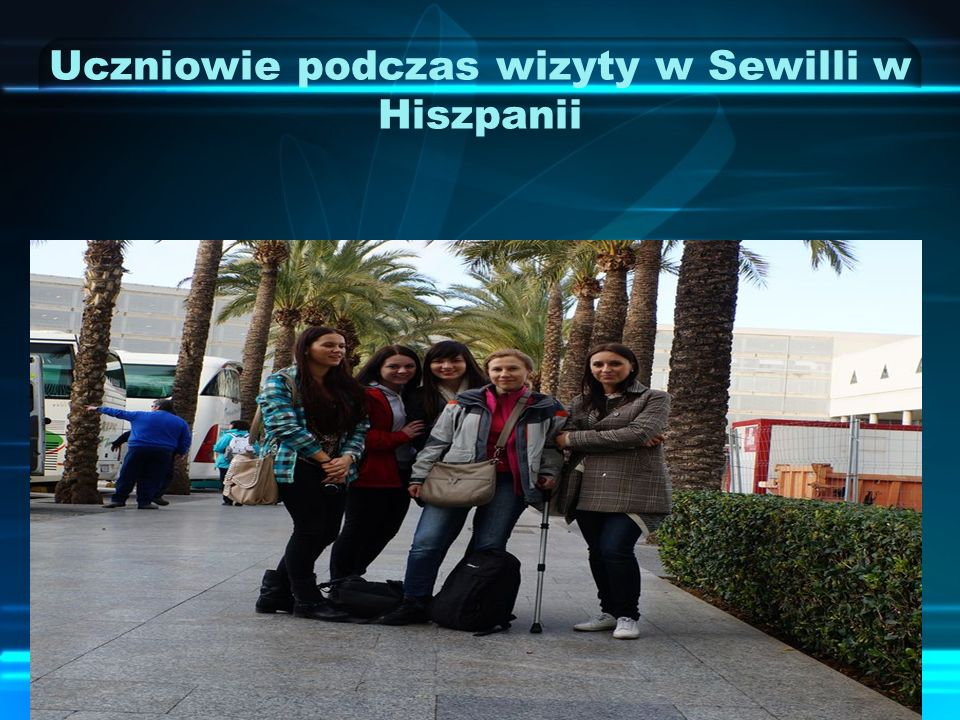 Uczniowie podczas wizyty w Sewilli w Hiszpanii