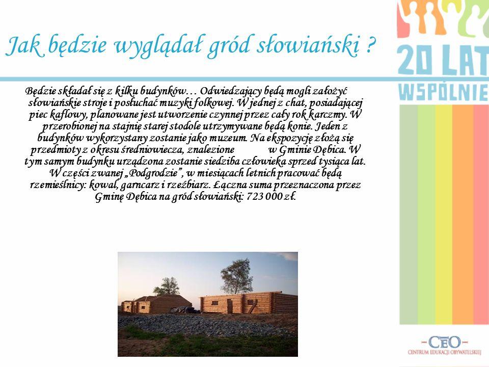 Jak będzie wyglądał gród słowiański ? Będzie składał się z kilku budynków… Odwiedzający będą mogli założyć słowiańskie stroje i posłuchać muzyki folko