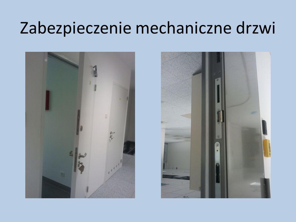 Zabezpieczenie mechaniczne drzwi