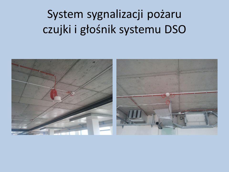 System sygnalizacji pożaru czujki i głośnik systemu DSO