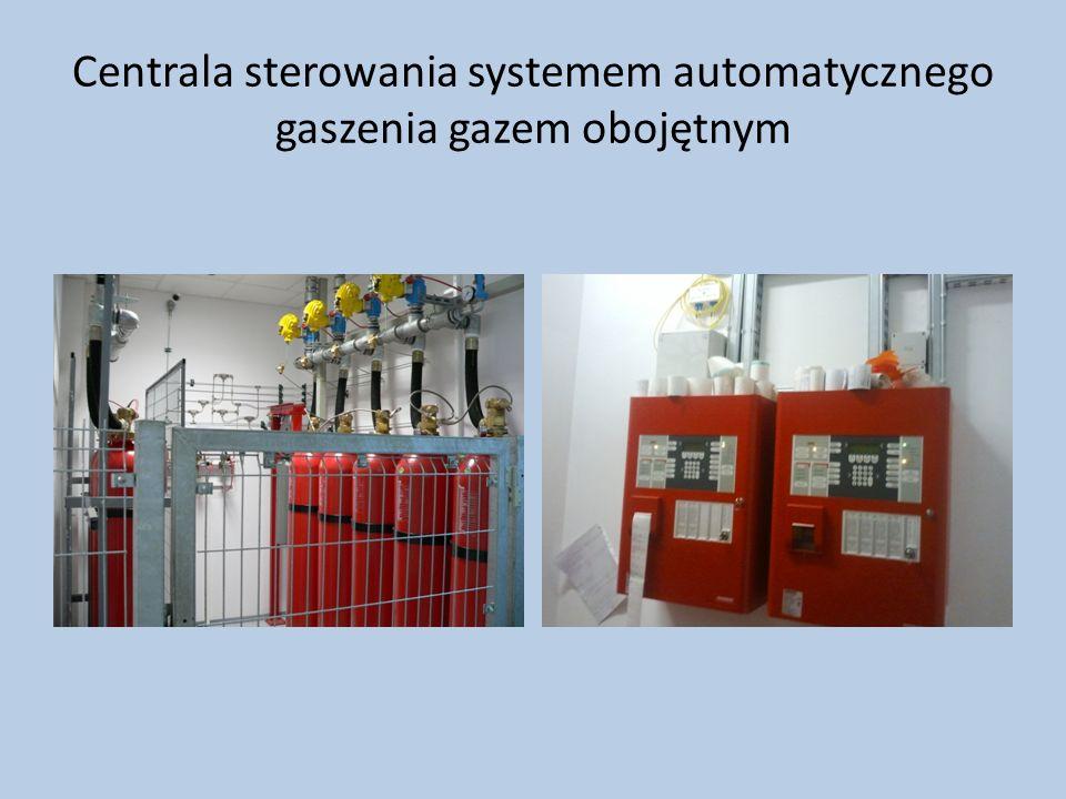 Centrala sterowania systemem automatycznego gaszenia gazem obojętnym