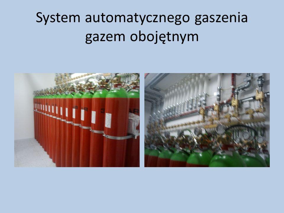 System automatycznego gaszenia gazem obojętnym
