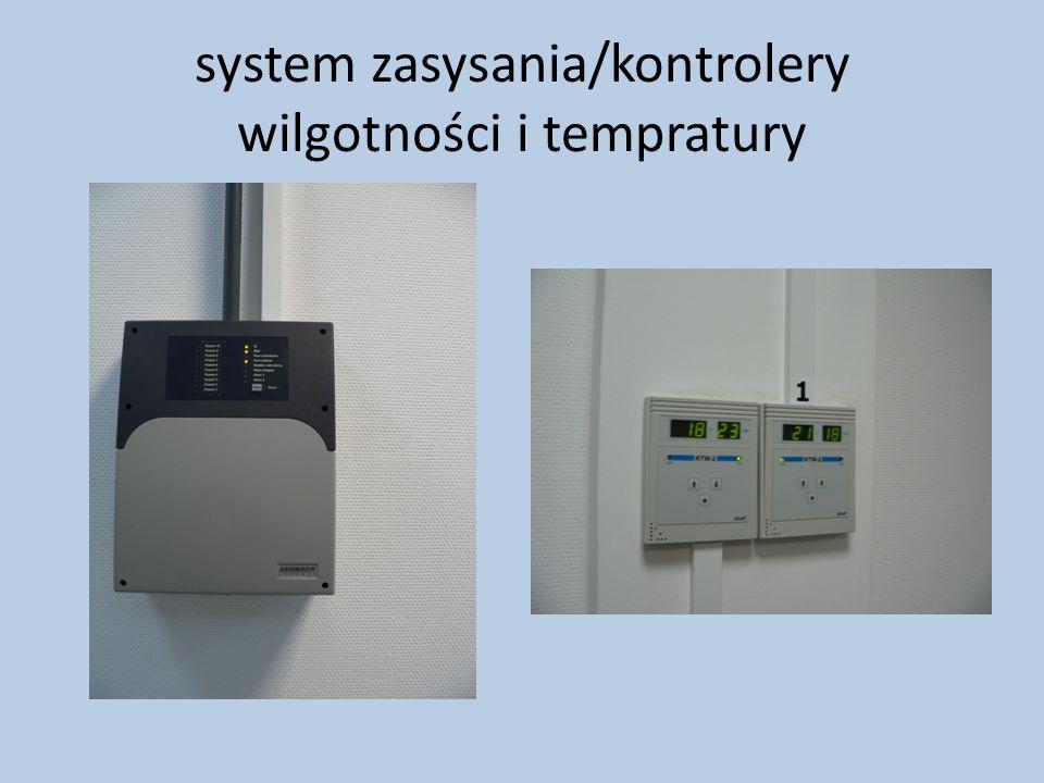 system zasysania/kontrolery wilgotności i tempratury