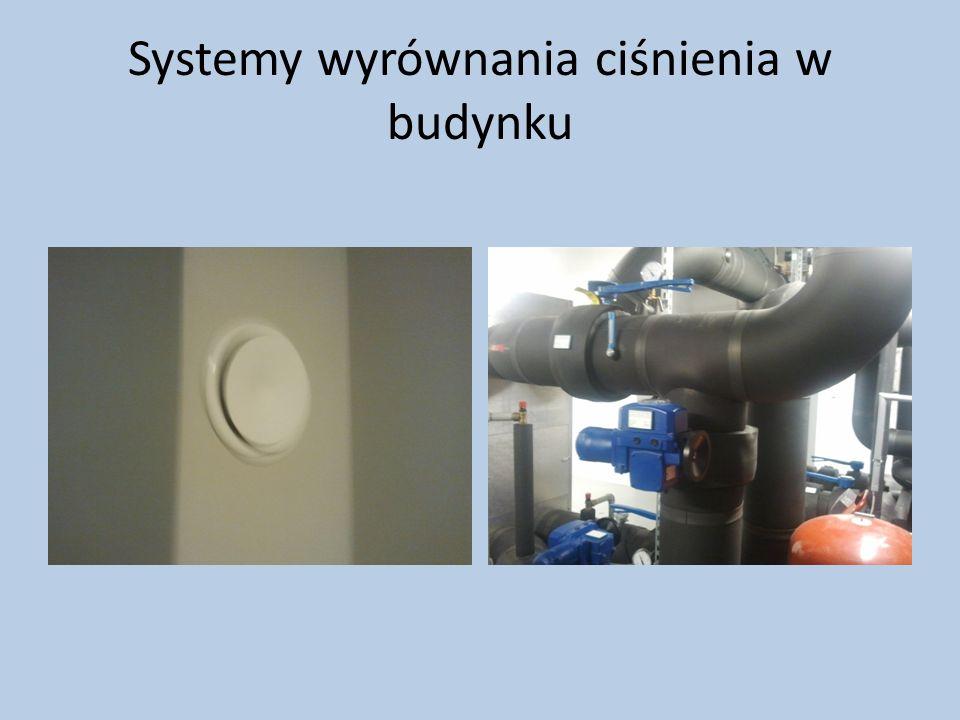 Systemy wyrównania ciśnienia w budynku