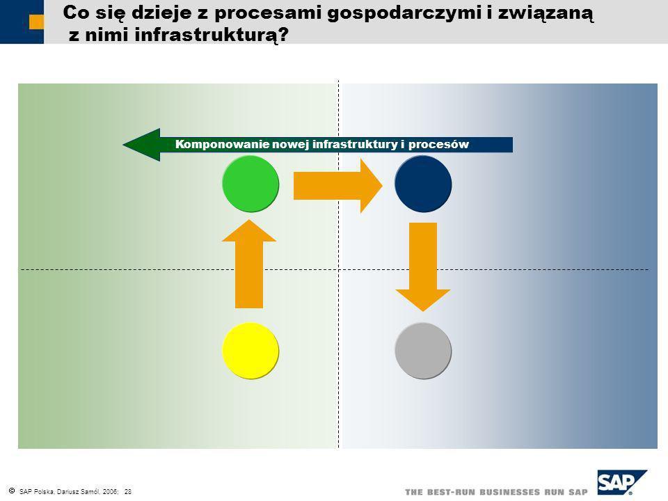 SAP Polska, Dariusz Samól, 2006; 28 Co się dzieje z procesami gospodarczymi i związaną z nimi infrastrukturą? Komponowanie nowej infrastruktury i proc