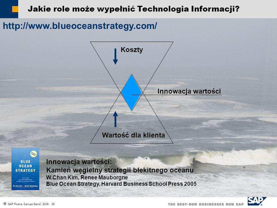 SAP Polska, Dariusz Samól, 2006; 36 Jakie role może wypełnić Technologia Informacji? Rozprzestrzenienie nowych praktyk biznesowych w całym wymaganym o
