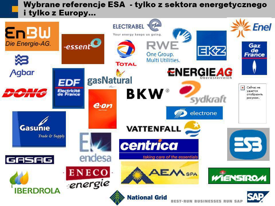 SAP 2005 44 Wybrane referencje ESA - tylko z sektora energetycznego i tylko z Europy…
