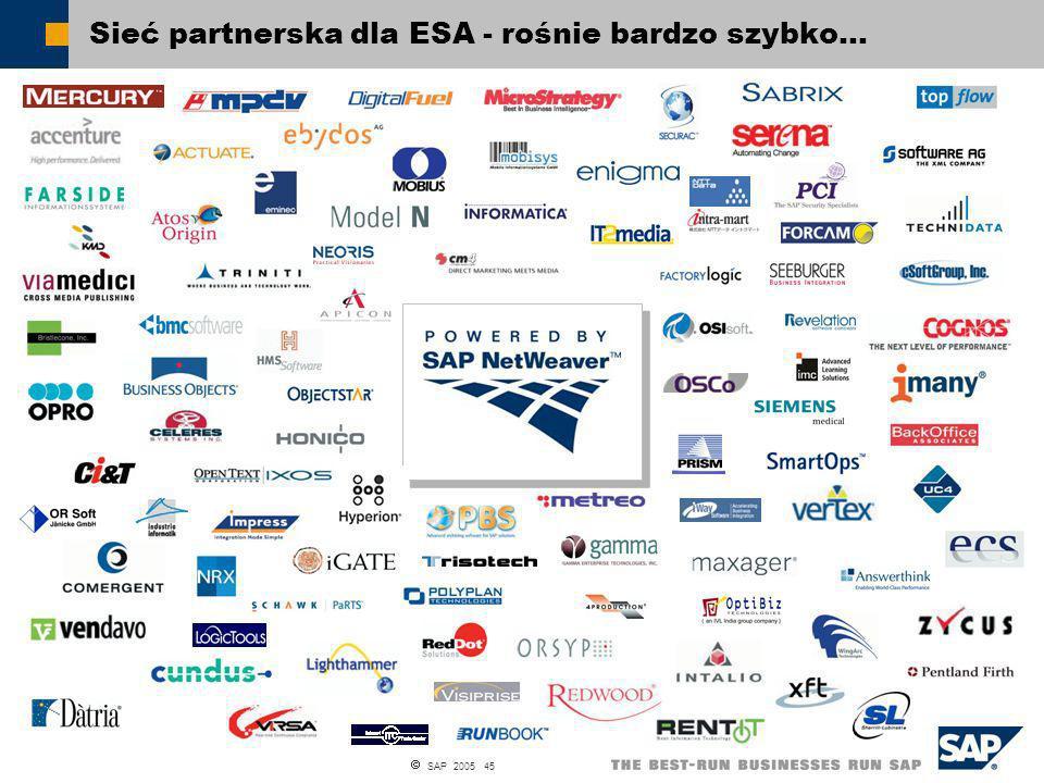SAP 2005 45 Sieć partnerska dla ESA - rośnie bardzo szybko…