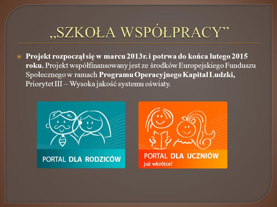 Projekt rozpoczął się w marcu 2013r.i potrwa do końca lutego 2015 roku.