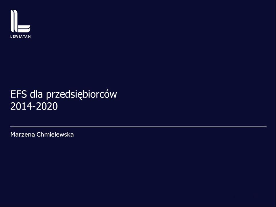 www.konfederacjalewiatan.pl | str. 1 EFS dla przedsiębiorców 2014-2020 Marzena Chmielewska